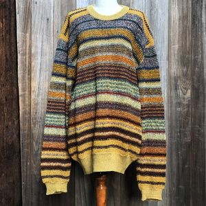 Vintage Missoni Gold Striped Oversized Sweater